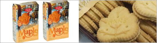 デア メープルリーフクリームクッキー